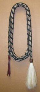 Mecate:  1/2 inch Parachute Cord, White w/ Black